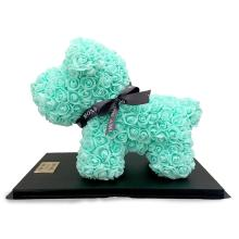 Forever Rose Bear Large Poodle Mint Green
