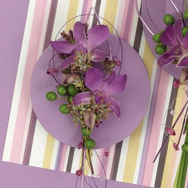 Dendrobium and Green Berry Boutonniere