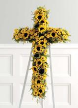 Sunflower Cross on Standing Easel