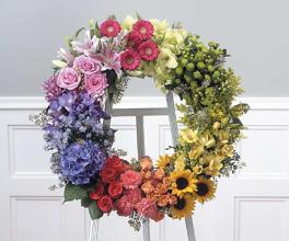 Multi-Color , Multi-Bloom Wreath
