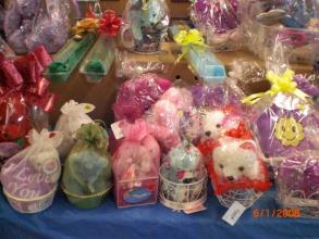 Assorted Mini Plush in Designer Baskets