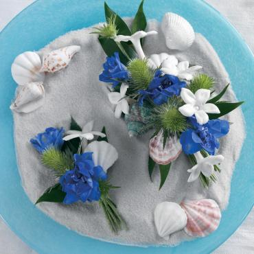 Blue Reception Flowers