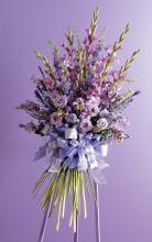 Hand Tied Pastel Funeral Spray