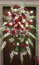 Blaze of Passion Standing Funeral Spray
