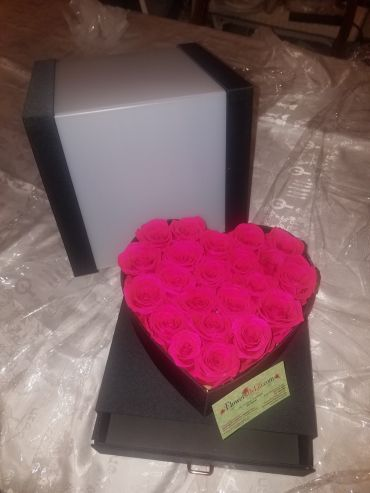Forever Love Roses That Last A Year Heart Edition Hot Pink