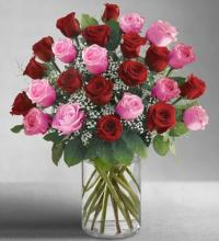 Ultimate Elegance 2 DZ Long Stem Pink & Red Roses