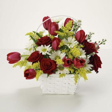 Rose and Tulip Basket