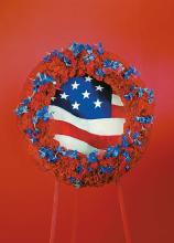 Patriotic Wreath With Flag