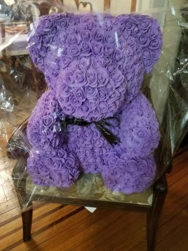 Forever Rose Bear Purple Giant Size