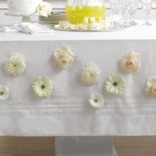 Flower Accented Tablecloth