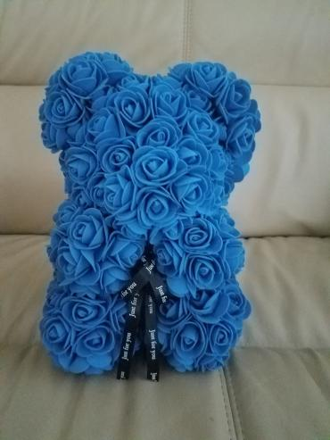 Forever Rose Bear Royal Blue Collector\'s Size