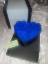 Forever Roses That Last A Year Heart Edition Electric Blue