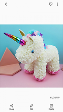 Special Edition Forever Rose Bear Unicorn