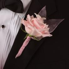 Premium Baby Pink Rose Boutonniere