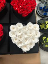 Forever Roses That Last A Year Heart Edition White