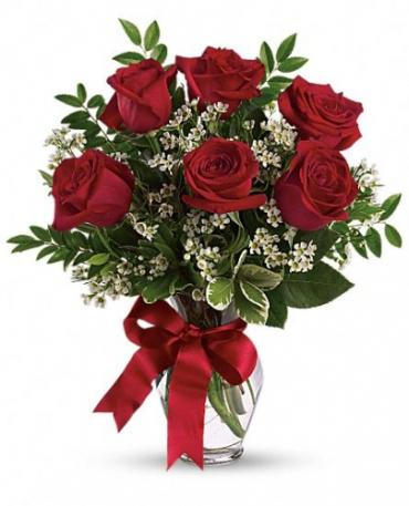 Thoughts of You Bouquet with Red Roses - Deluxe