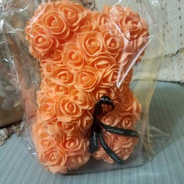 Forever Rose Bear Collector Size Melon Color