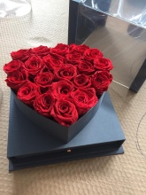 Forever Love Roses That Last a Year Heart Edition Red