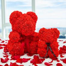 Forever Rose Bear Romantic Red Collector Size