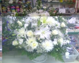 Pure White Sympathy Basket
