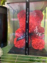 Forever Rose Bear Large Red W Custom Window Display Box
