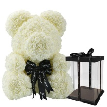 Forever Rose Bear Large White