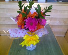 Sweet Gerberas with Ruscus