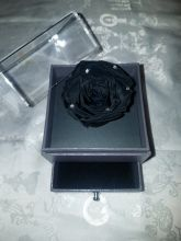 Forever Love Rose Individual Unit Dramatic Black w Rhinestones