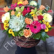 Job Well Done Flower Basket