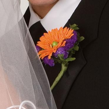 Bright Orange Gerbera Boutonniere