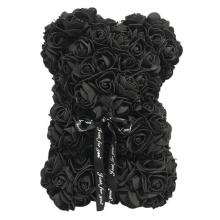 Forever Rose Bear-Black-Collector\'s Size