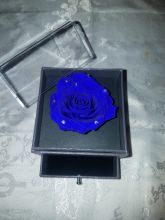 Forever Love Rose Individual Unit Electric Blue w Rhinestones