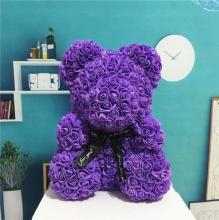 Forever Rose Bear Purple Large