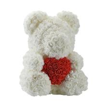 Forever Rose Bear White With Red Heart Large