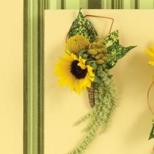 Mini Sunflower and Crespia Boutonniere